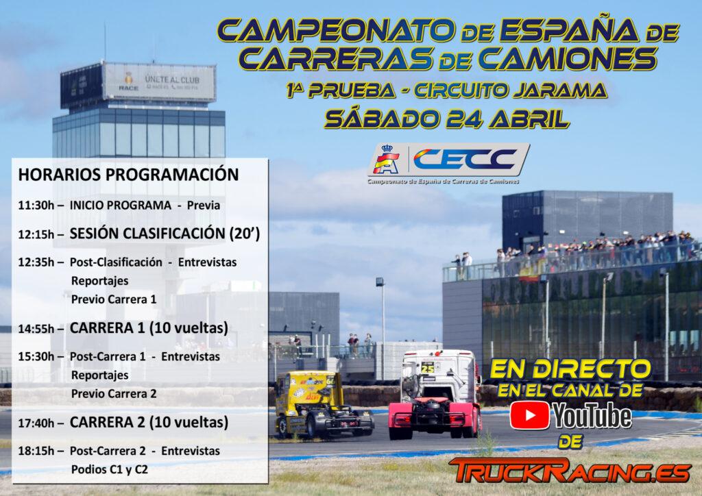 Horarios Programa CECC Jarama 24 abril